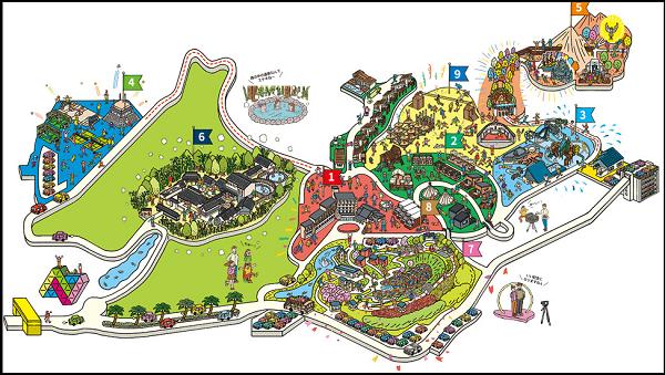 ネスタリゾート神戸の園内地図