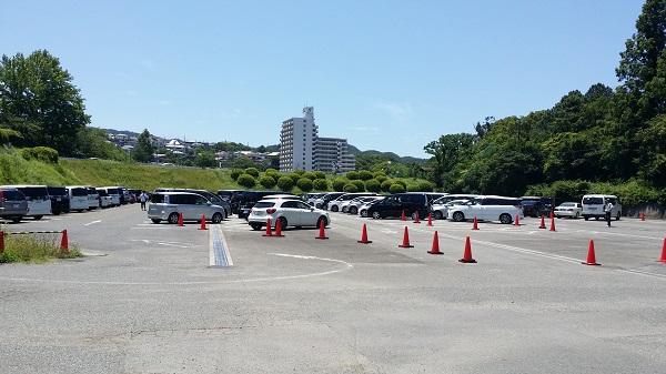 みさき公園の駐車場