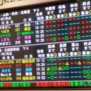 東北新幹線の発車時刻