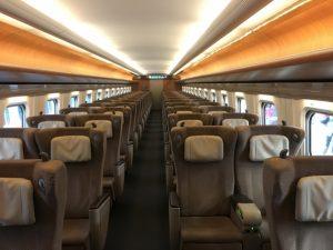 新幹線グリーン車の座席
