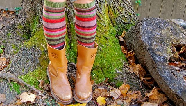 靴下とブーツ